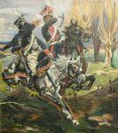 Chevaux - Chevau-leger polonais contre hussard prussien (Wojciech Kossak) 1995